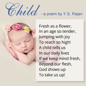 Poem on Child By Y S Rajan