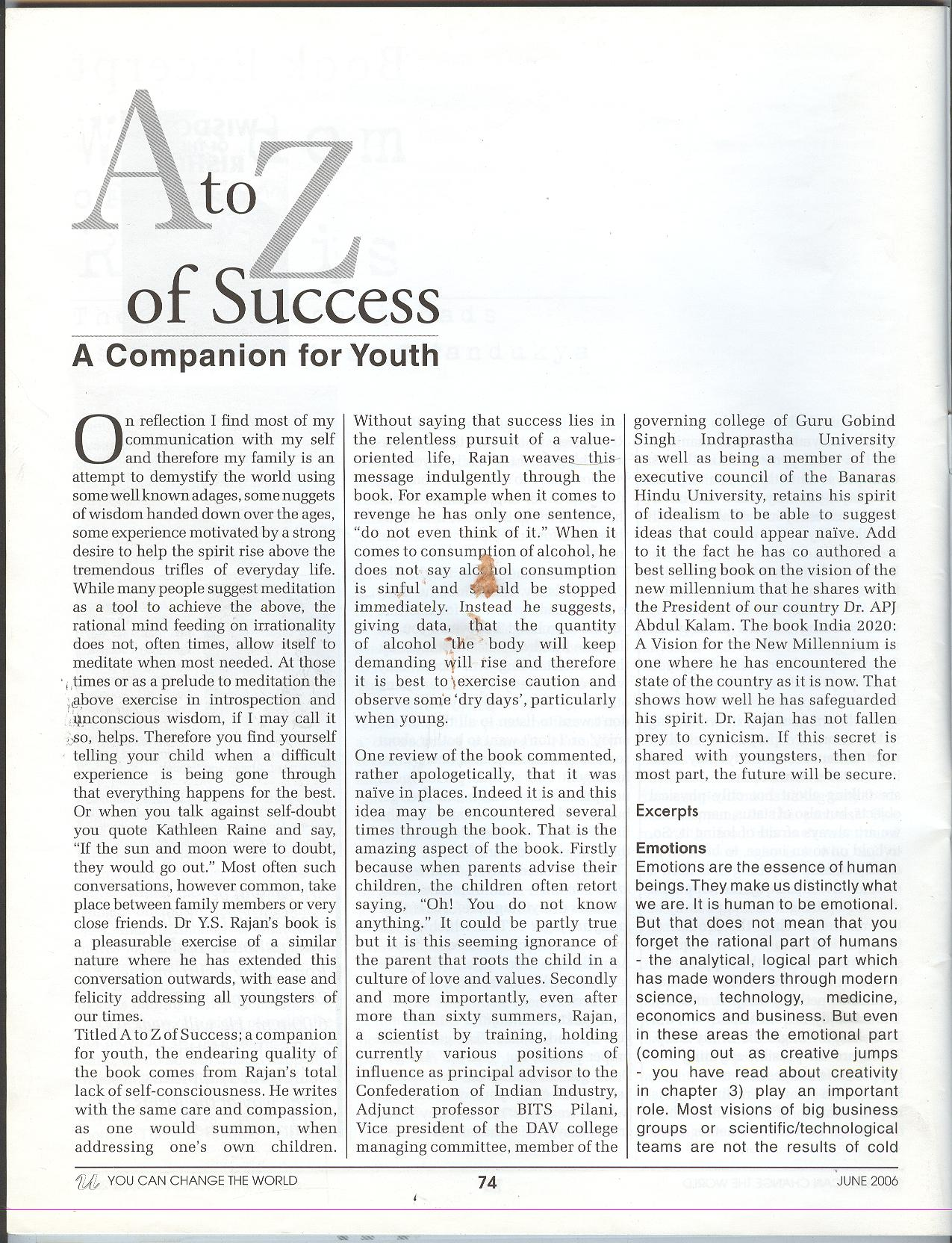 Review of A To Z For Success